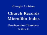 Presbyterian Churches - A thru E...
