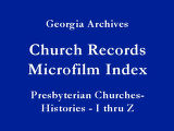 Presbyterian Churches-Histories -...