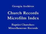 Baptist - Miscellaneous Records...