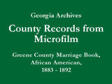 Greene County Marriage Book,...