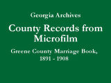 Greene County Marriage Book, 1891...
