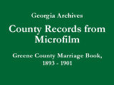 Greene County Marriage Book, 1893...