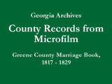 Greene County Marriage Book, 1817...