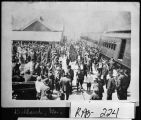 (Franklin, N. C.), May 16, 1916. Confederate veterans  reunion at depot.