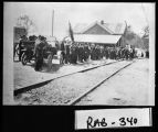 (Franklin, N.C.), May 6, 1916. Confederate veterans reunion at depot.