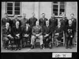 (England), 1944. Colonel Joseph B. Fraser (seated, center) and other military and political...