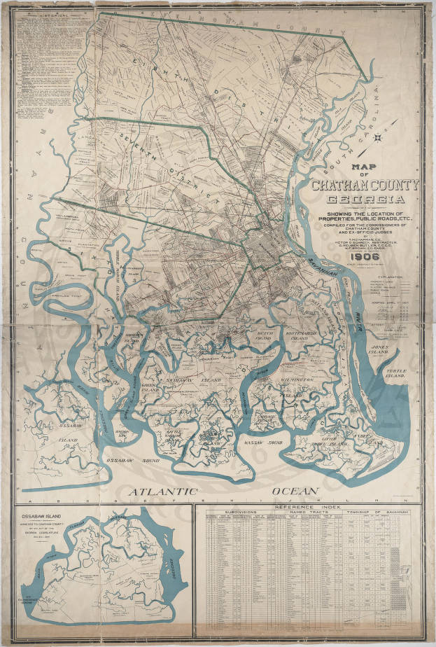 Map of Chatham County, Georgia, Showing the Location of ...