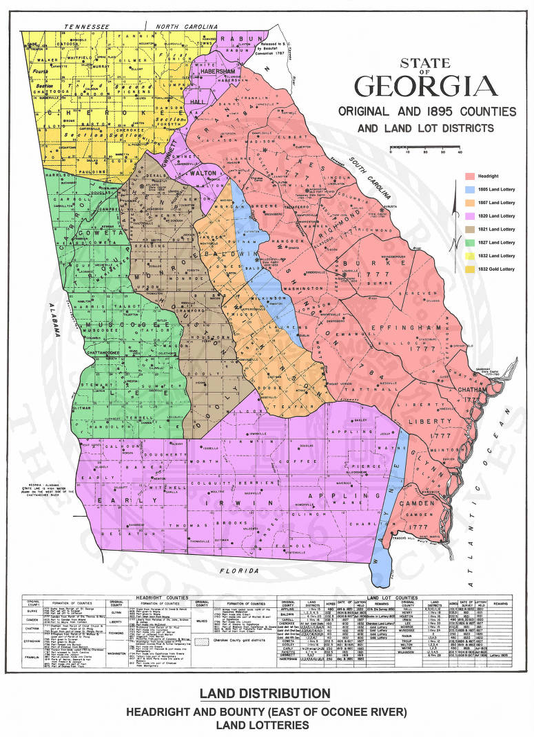 State of Georgia Original and 1895 Counties and Land Lot ... on nebraska georgia map, columbia georgia map, new jersey georgia map, washington georgia map, connecticut georgia map, united states senate map, south carolina georgia map, ohio georgia map, florida map, kentucky georgia map, north georgia map, europe georgia map, kentucky districts map,