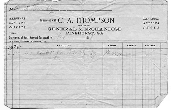 Hendly, D  H , receipt - Confederate Pension Application