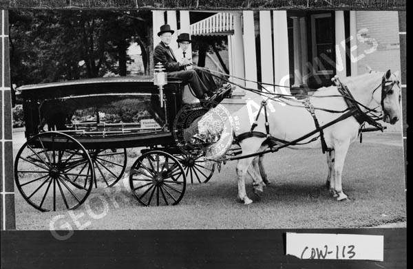 Newnan 1958 Horse Drawn Hearse Of The Mckoon Funeral Home Used In
